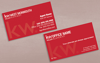 Custom business cards kw print keller williams business card 100c reheart Gallery